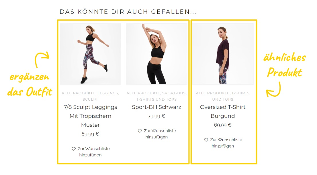 Cross Selling im Onlineshop