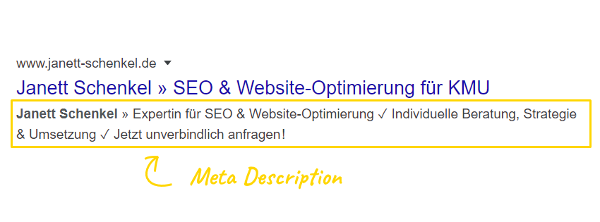 Google Meta Description optimieren