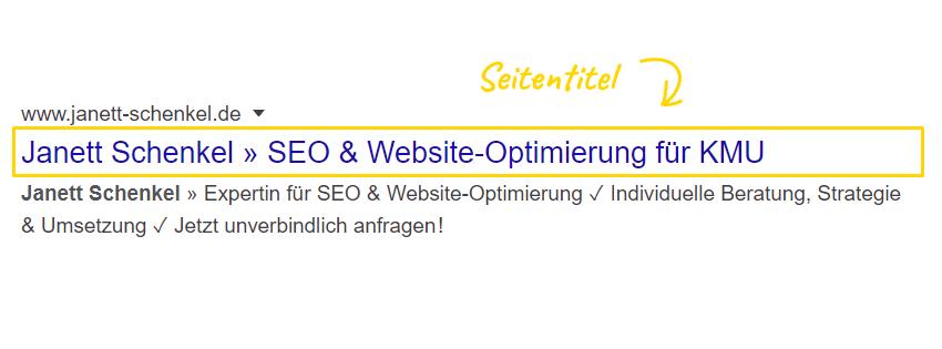 Google Seitentitel optimieren
